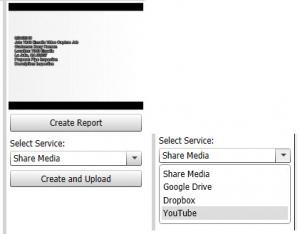 HQ create video report upload