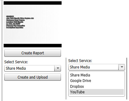 HQ create video report upload