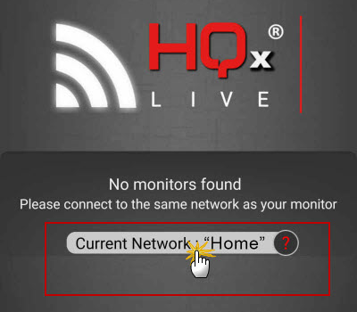 Android HQx live wi-fi select