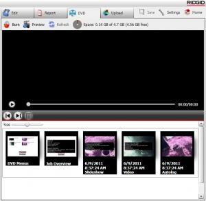 DVD screen