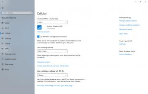 Windows 10 cellular settings